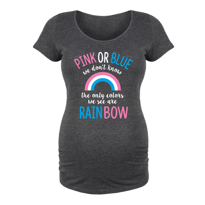 Pink or Blue We Don't Know Maternity Tee
