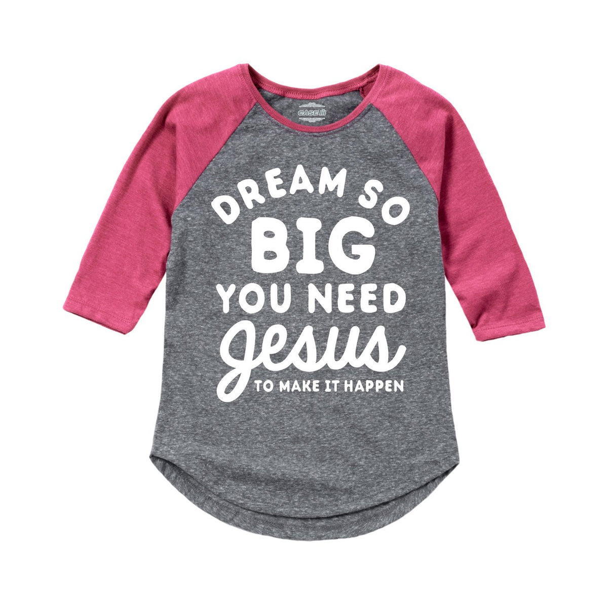Dream So Big - Toddler Girl Raglan