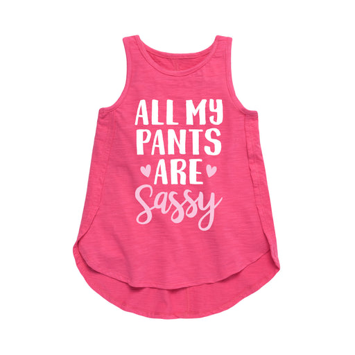 Sassy Pants Cute Script Toddler Girl Tunic
