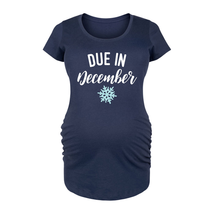 Due In December Maternity Tee