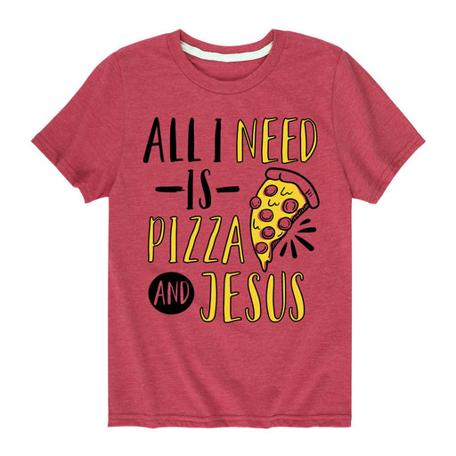 Pizza Kids Snack Cheese and Jesus Toddler Short Sleeve T-Shirt