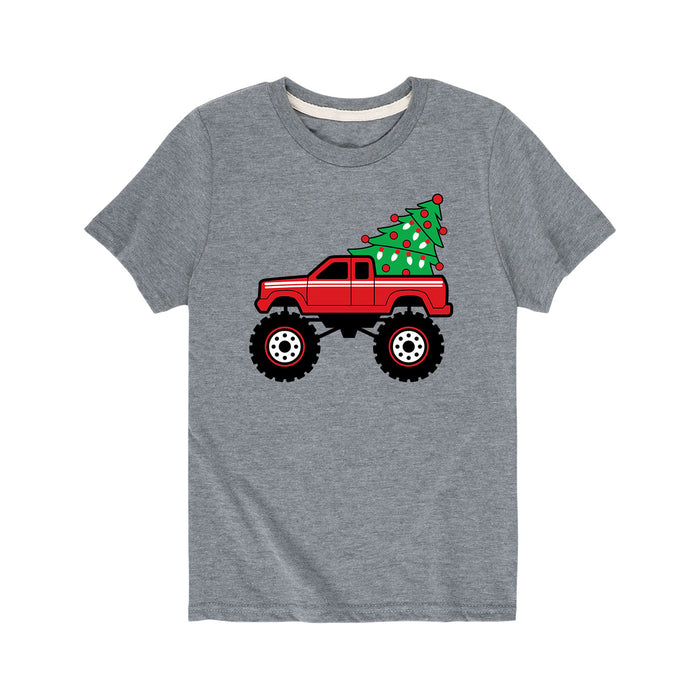 Christmas Tree Truck - Youth Short Sleeve T-Shirt