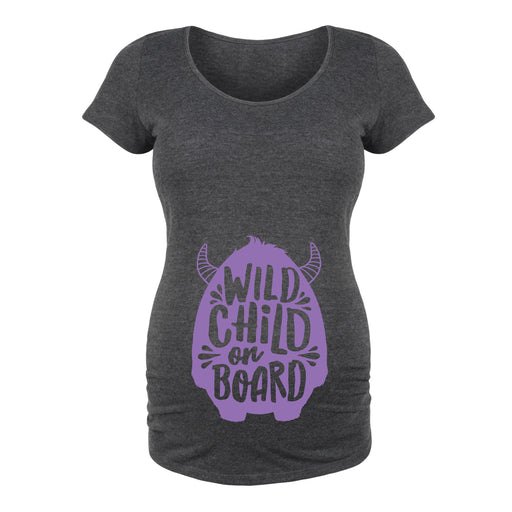 Wild Child On Board - Maternity Short Sleeve T-Shirt
