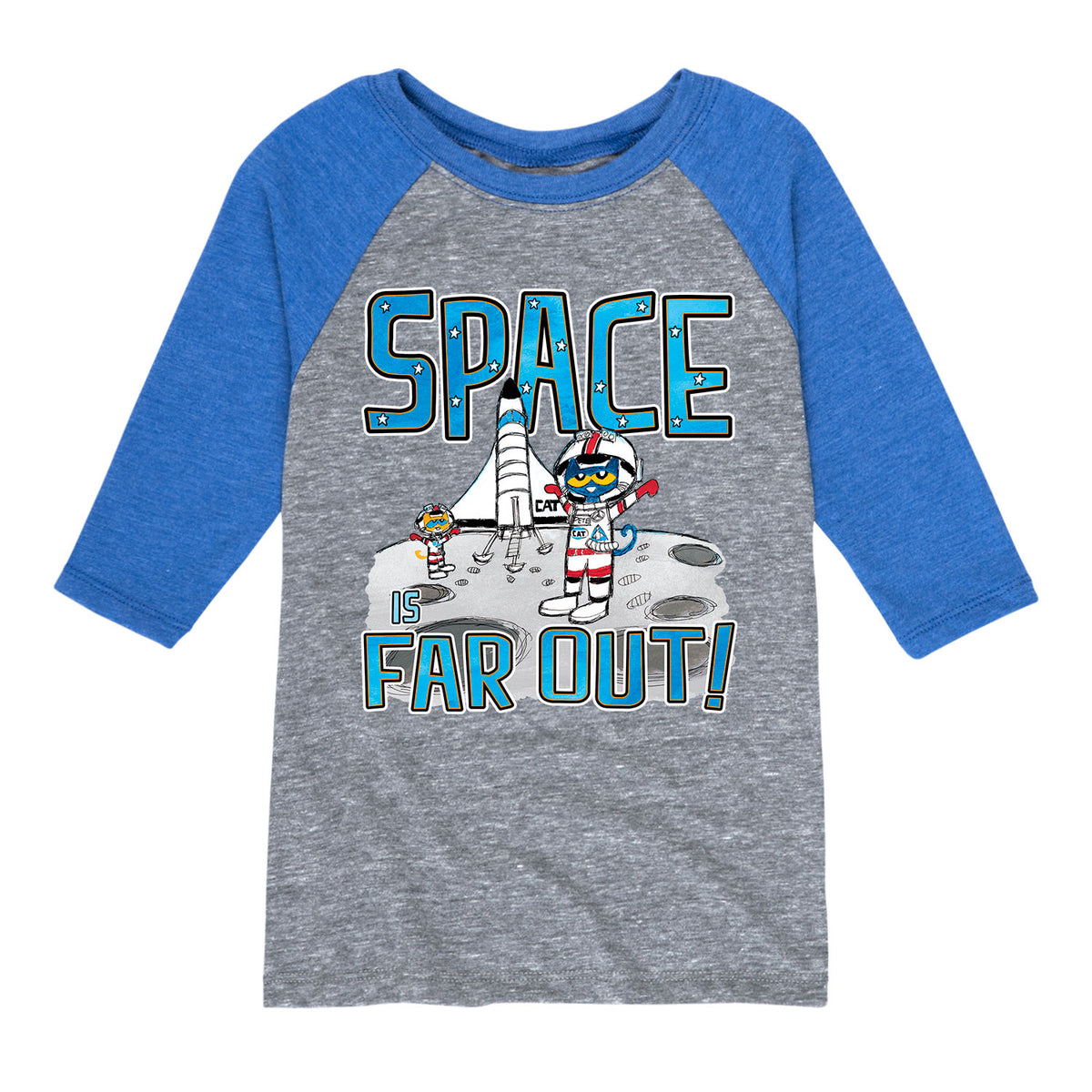 Pete The Cat Space Is Far Out - Toddler Raglan