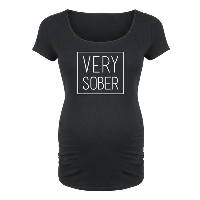 Very Sober - Maternity Short Sleeve T-Shirt