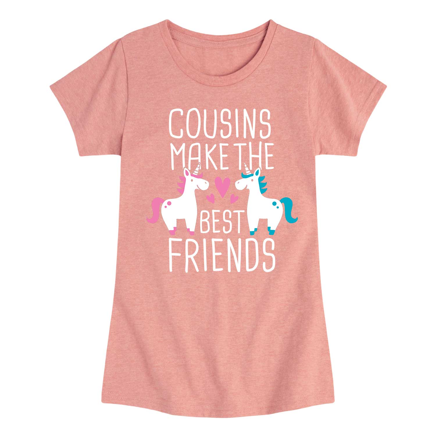 Cousins Best Friends Unicorn - Youth & Toddler Girls Short Sleeve T-Shirt