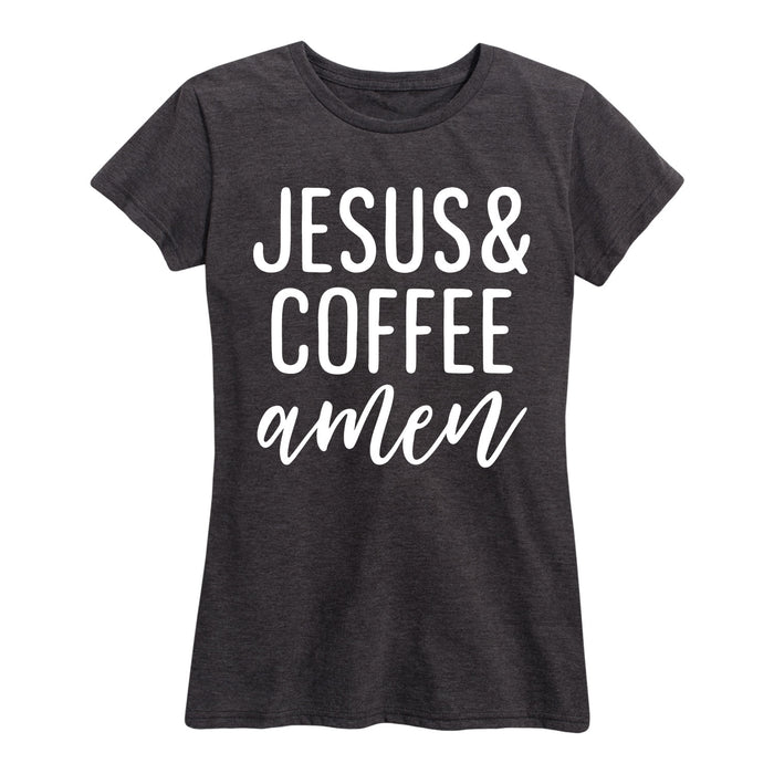 Jesus And Coffee - Women's Short Sleeve T-Shirt