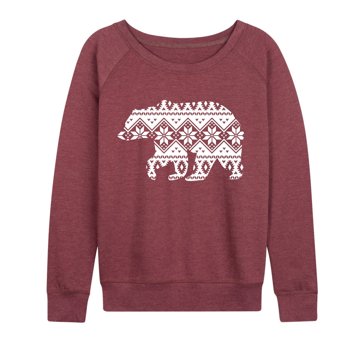Fair Isle Snowflake Bear - Women's Slouchy
