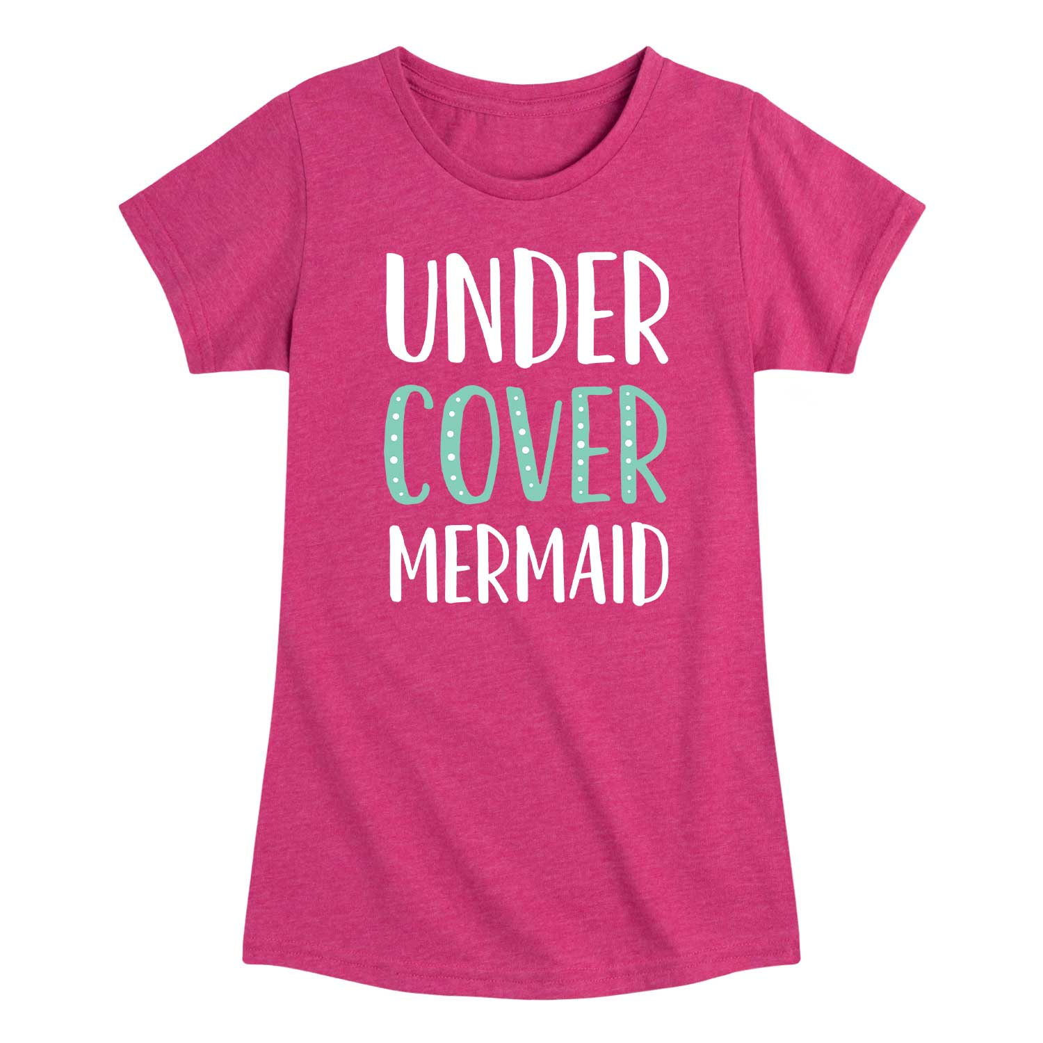Undercover Mermaid - Youth & Toddler Girls Short Sleeve T-Shirt