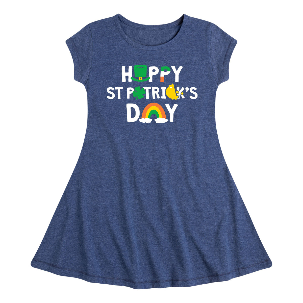 Happy St. Patrick's - Youth & Toddler Girls Fit and Flare Dress