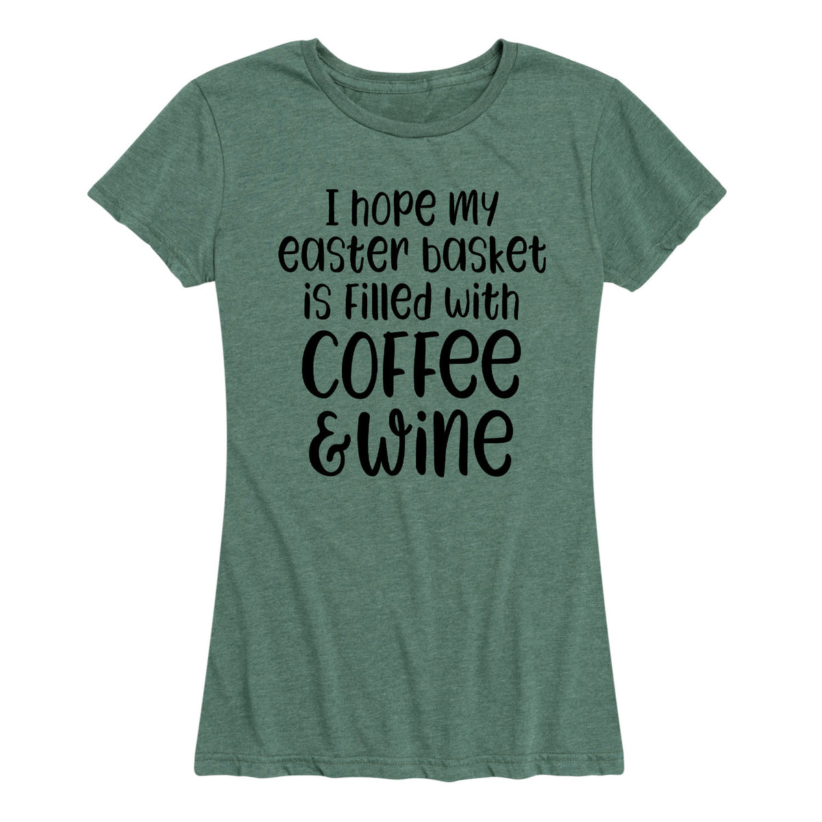 Easter Basket Coffee And Wine - Women's Short Sleeve T-Shirt