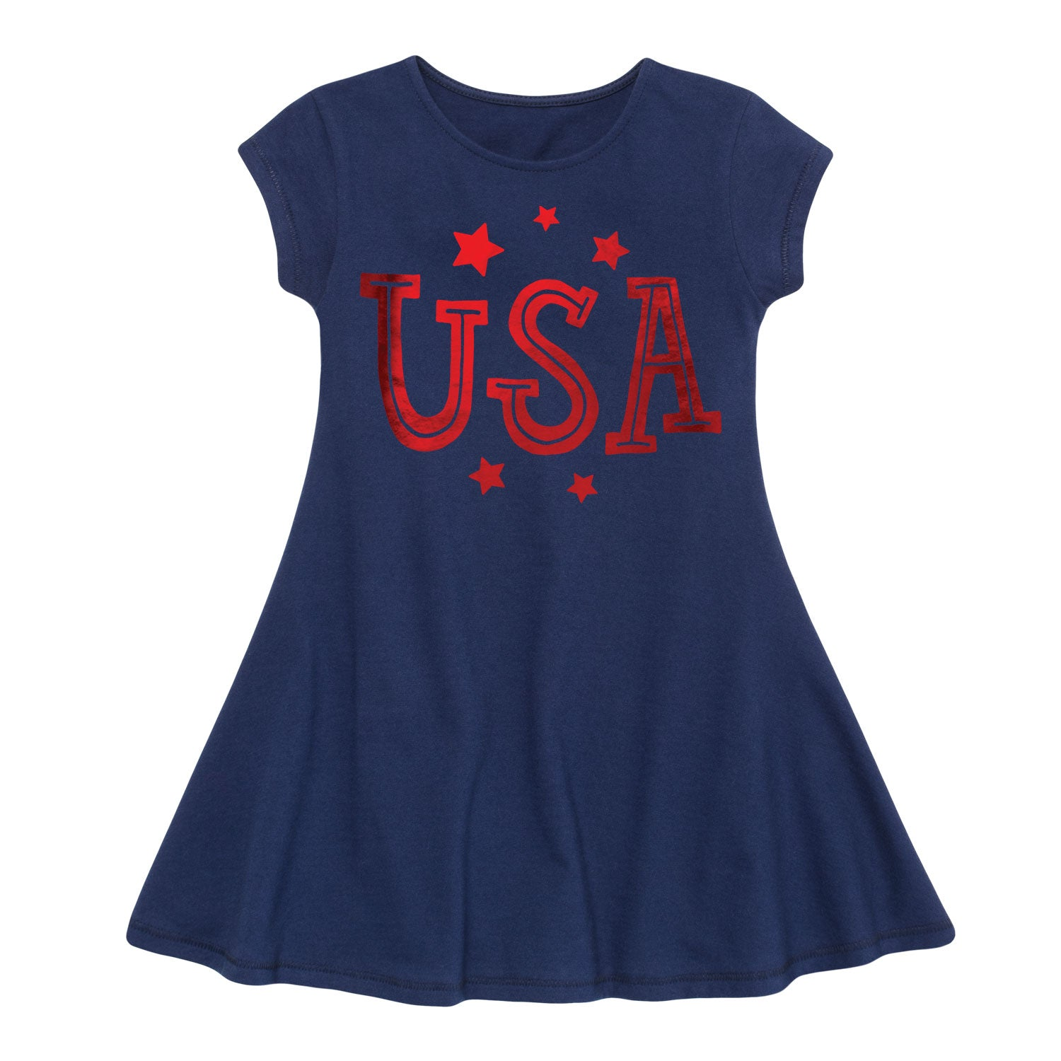 USA - Youth Girl Fit And Flare Dress