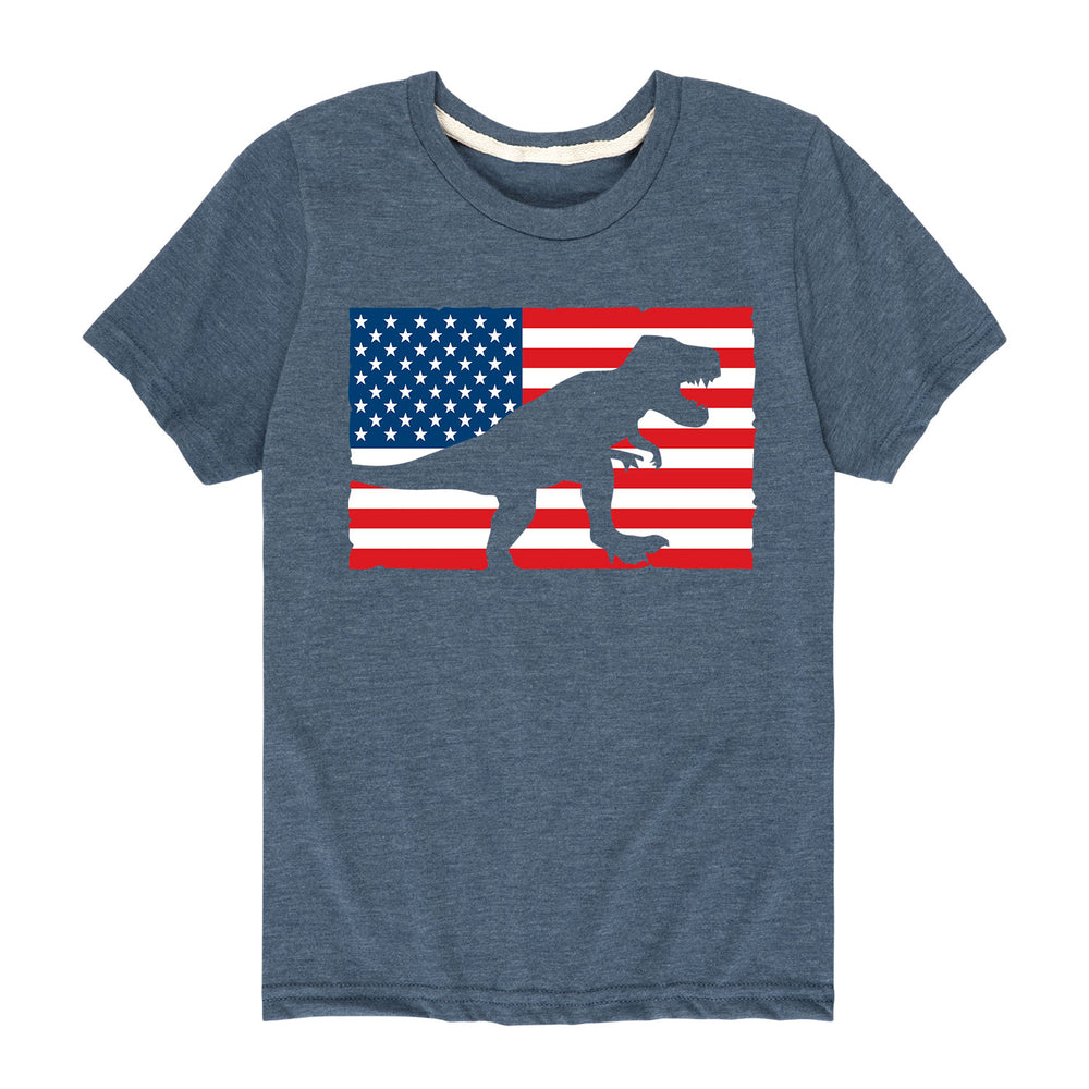 Dino Flag - Youth & Toddler Short Sleeve T-Shirt