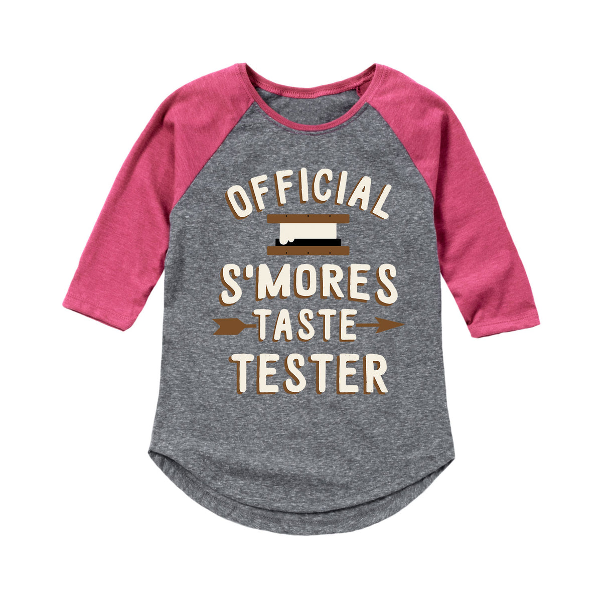 Smores Taste Tester - Youth & Toddler Girls Raglan