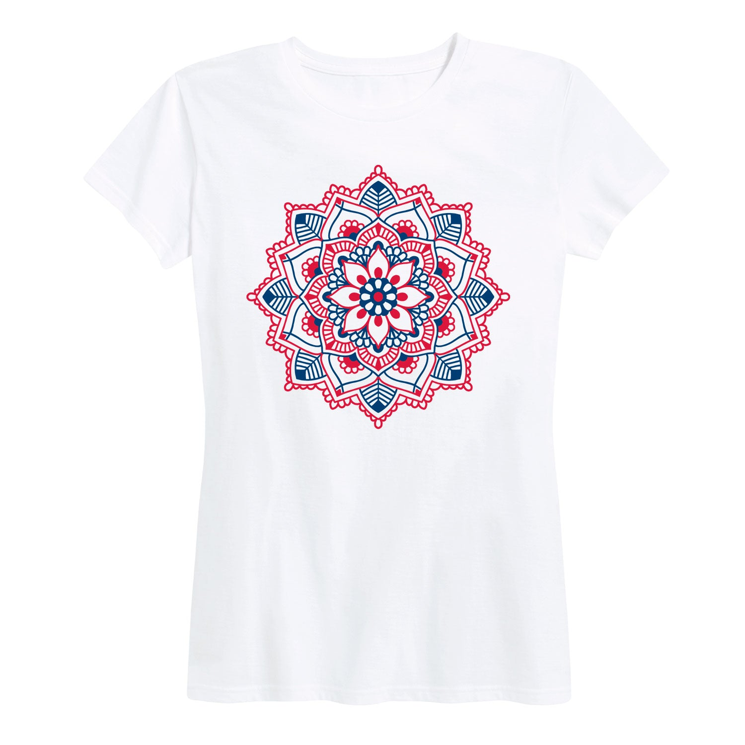 Red White Blue Mandala - Women's Short Sleeve T-Shirt
