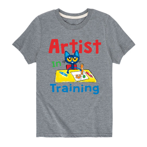 Pete The Cat Artist In Training - Toddler Short Sleeve T-Shirt