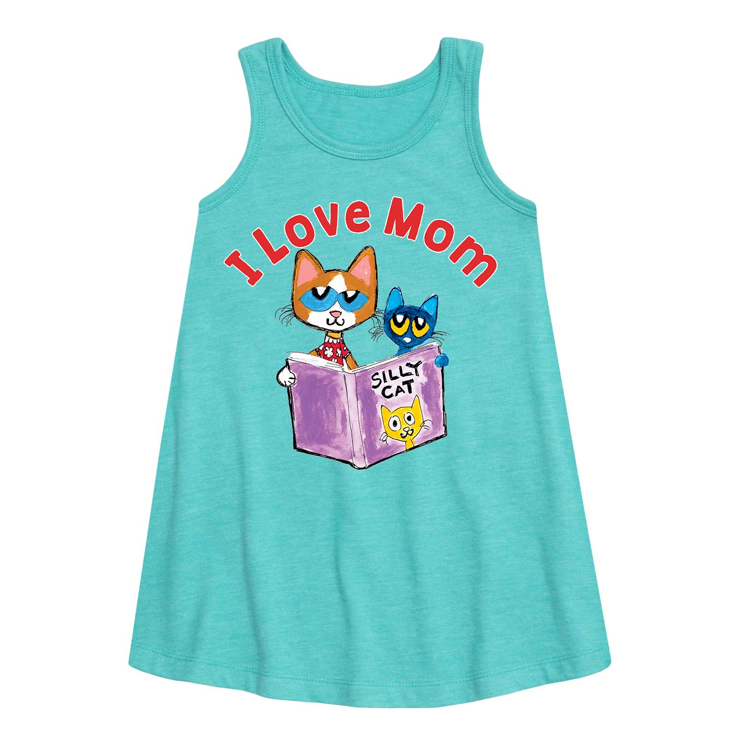 Pete The Cat I Love Mom - Toddler Girl A-Line Dress