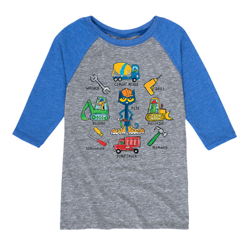 Pete The Cat Construction Tools - Toddler Raglan