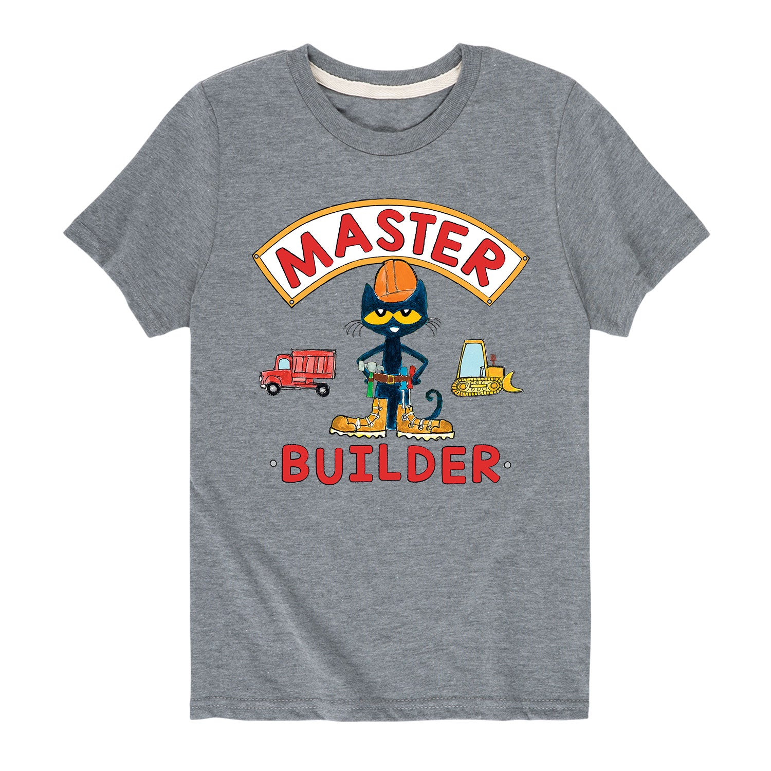 Pete The Cat Master Builder- Toddler Short Sleeve T-Shirt