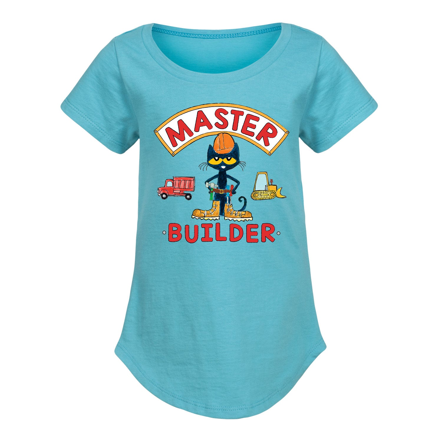 Pete The Cat Master Builder - Toddler Girl Short Sleeve T-Shirt