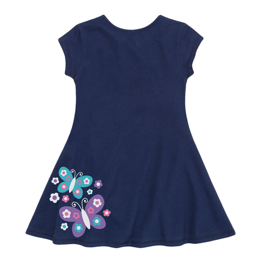 Butterflies - Toddler Girls Fit And Flare Dress