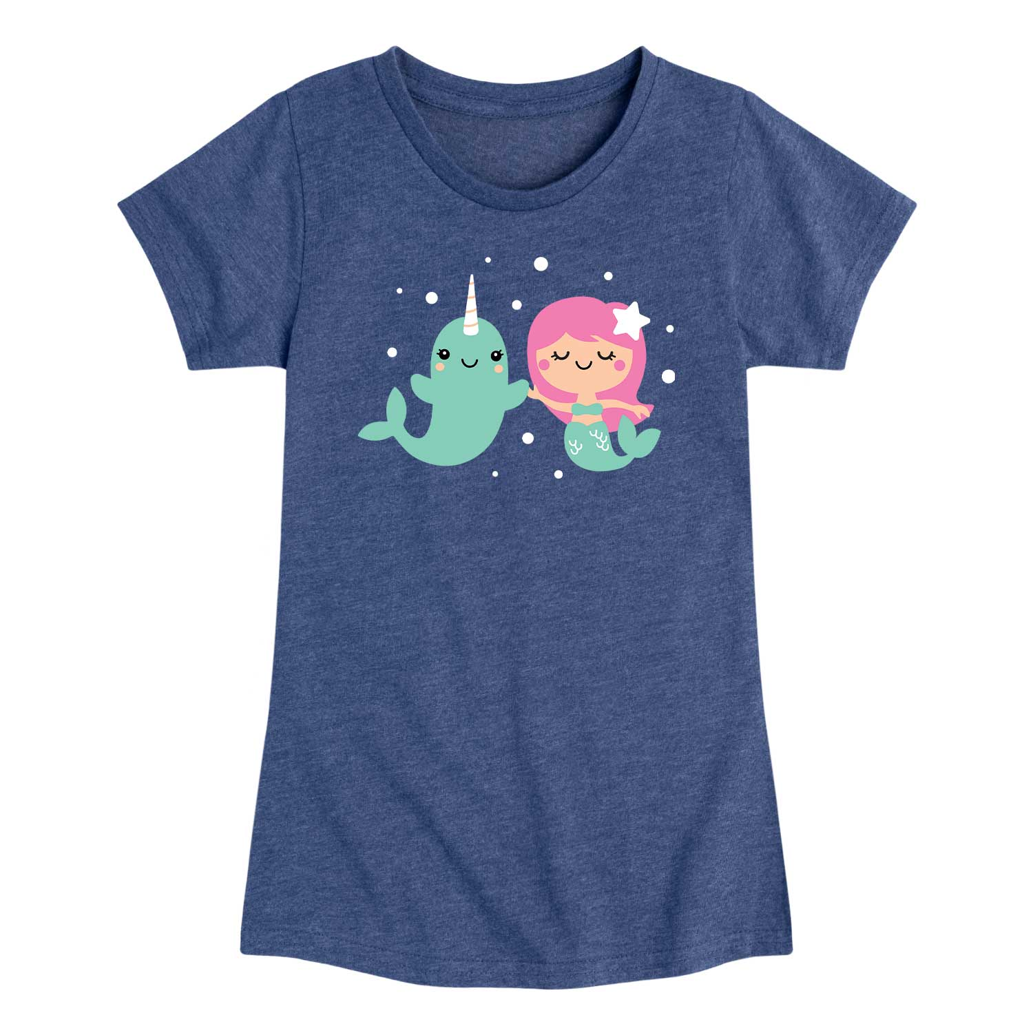 Narwhal Mermaid Friends - Youth & Toddler Girls Short Sleeve T-Shirt