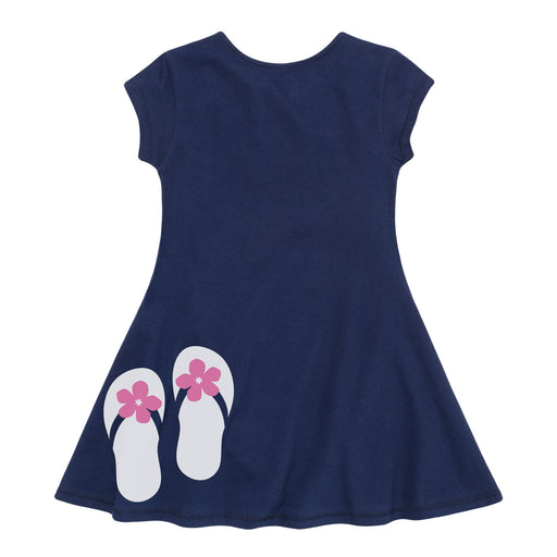 Flip Flops - Youth Girls Fit And Flare Dress