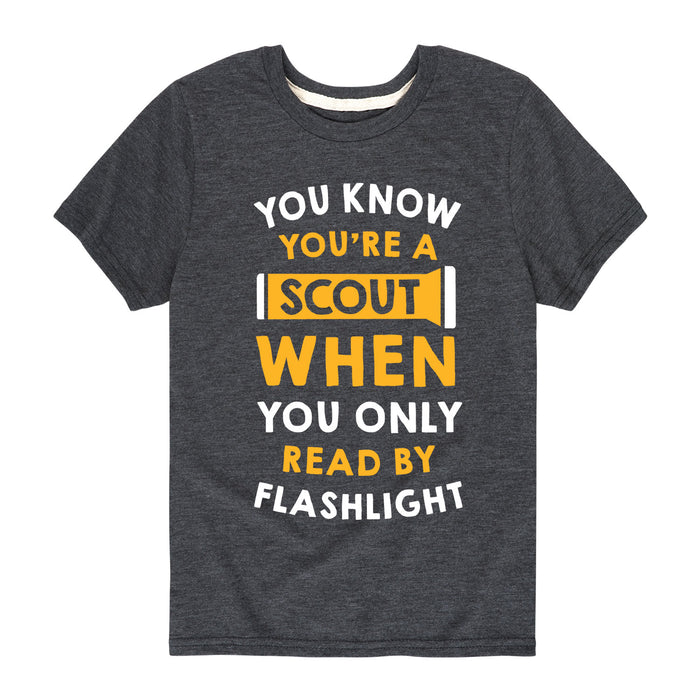 Scout Flashlight - Youth Short Sleeve T-Shirt