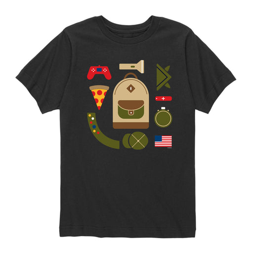 BSA Camper Backpack Boy Scout-Kids Short Sleeve Tee