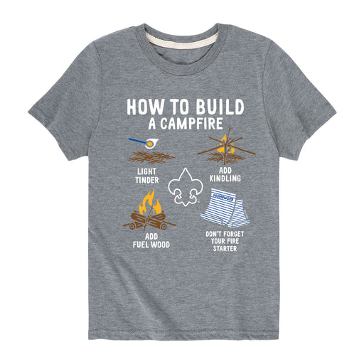 How To Build A Campfire - Youth Short Sleeve T-Shirt