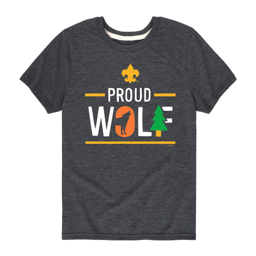 BSA Icon Wolf Cub Scout-Kids Short Sleeve Tee