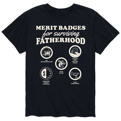 Merit Badges For Fatherhood - Men's Short Sleeve T-Shirt