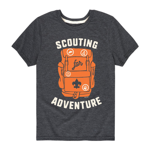 Scouting For Adventure - Youth Short Sleeve T-Shirt