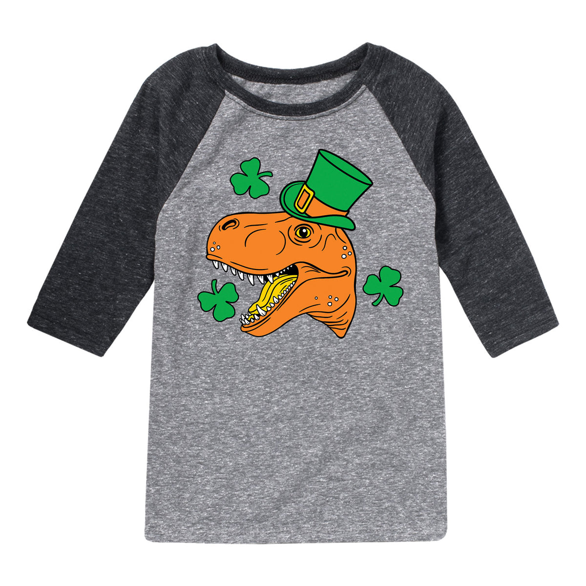 Dinosaur Face - Youth & Toddler Raglan