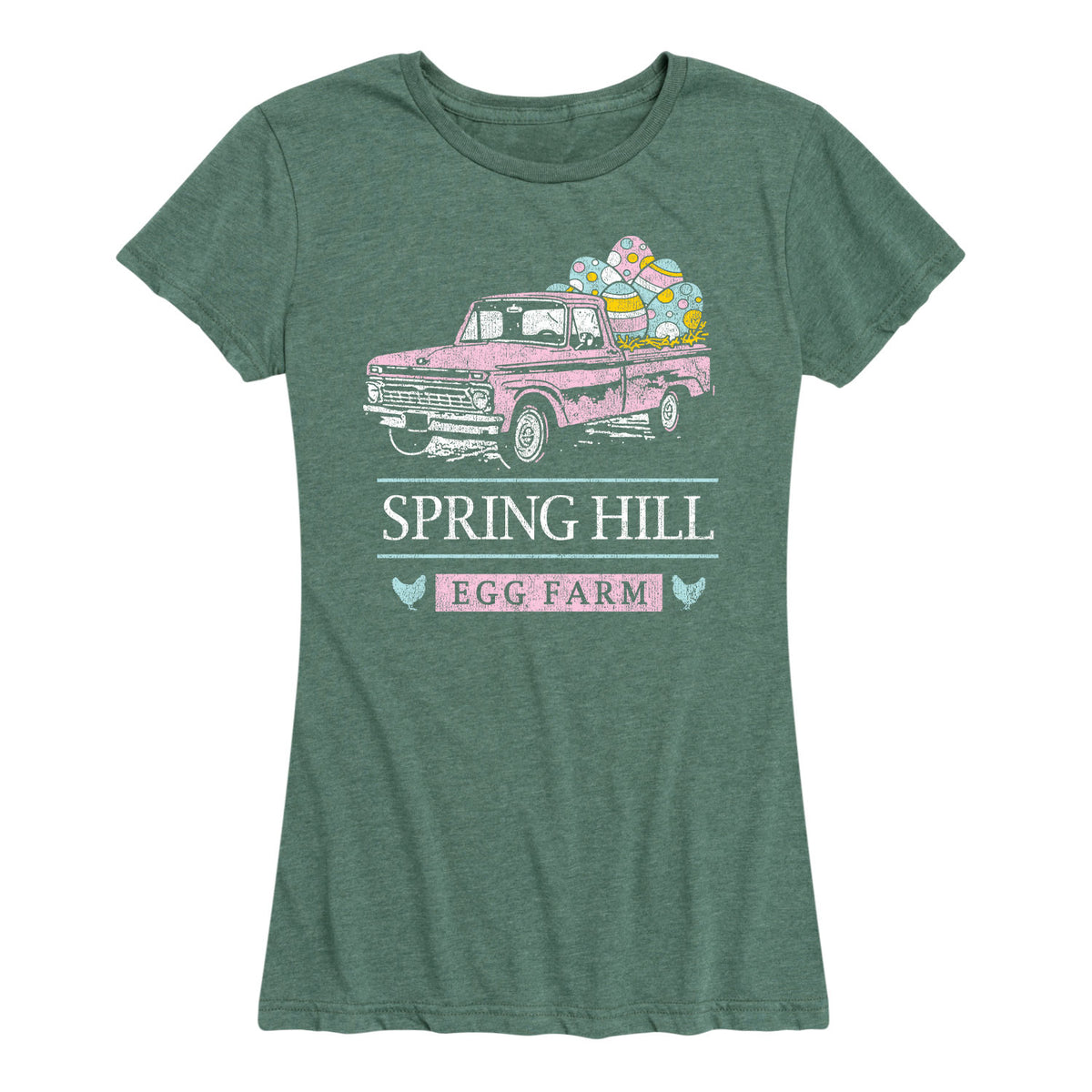 Spring Hill Egg Farm Truck - Women's Short Sleeve T-Shirt