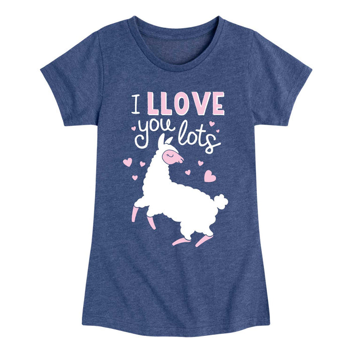 I Llove You Lots - Youth & Toddler Girls Short Sleeve T-Shirt