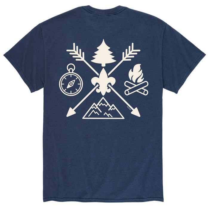 Camp Symbols - Men's Short Sleeve T-Shirt