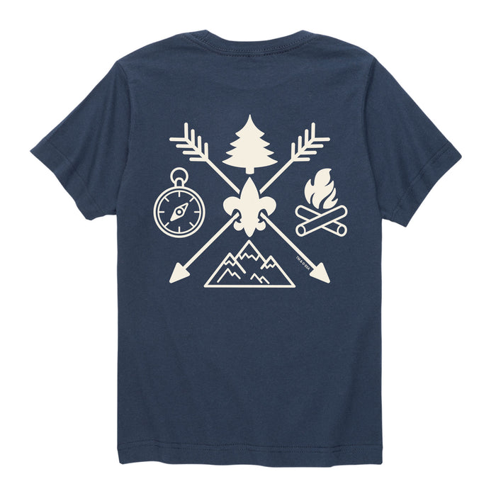 BSA Camp Symbols -Kids Short Sleeve Tee