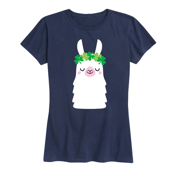Shamrock Crown Llama - Women's Short Sleeve T-Shirt