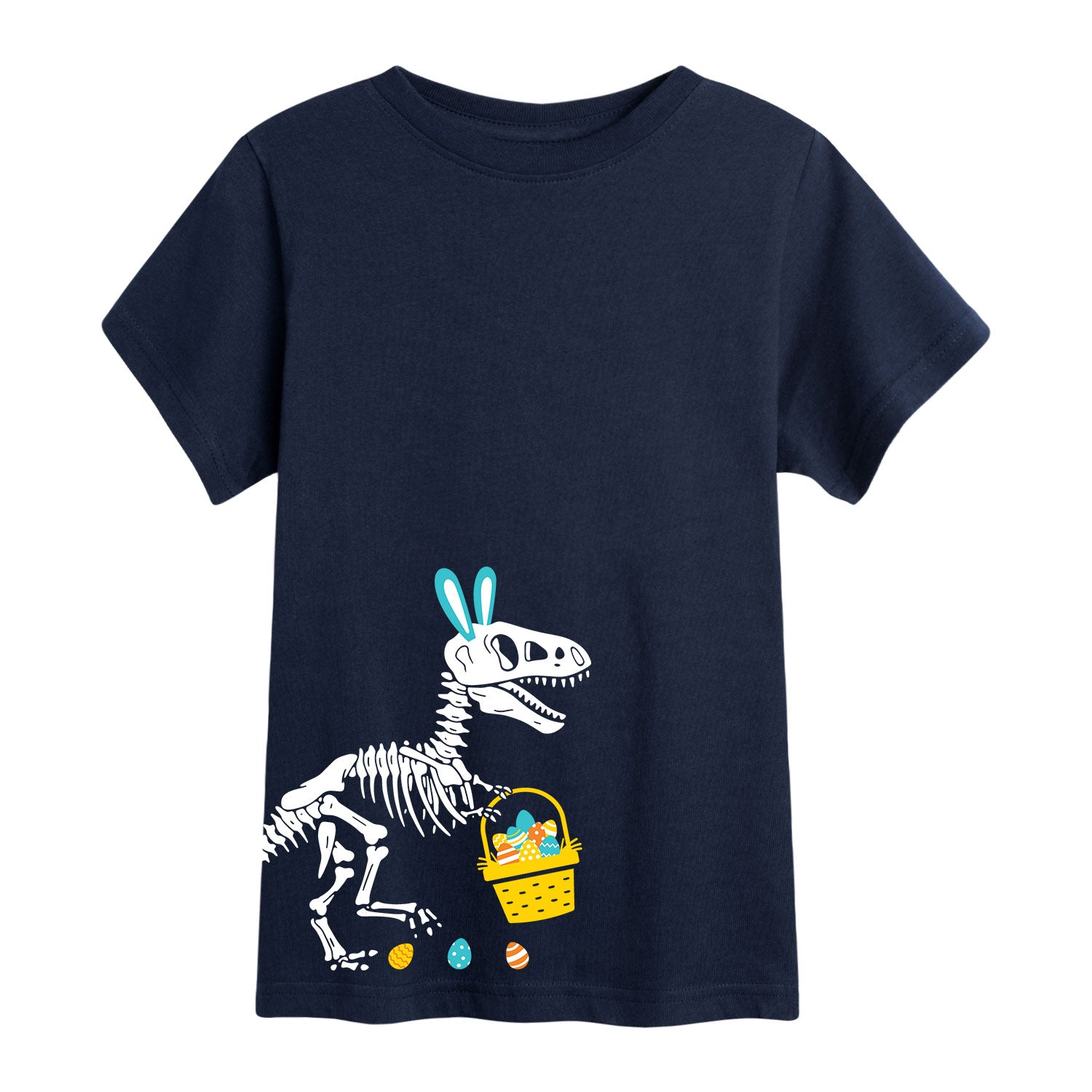 T-Rex Easter Skeleton - Toddler Short Sleeve T-Shirt