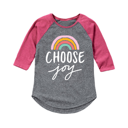 Choose Joy Rainbow - Youth Girl Raglan