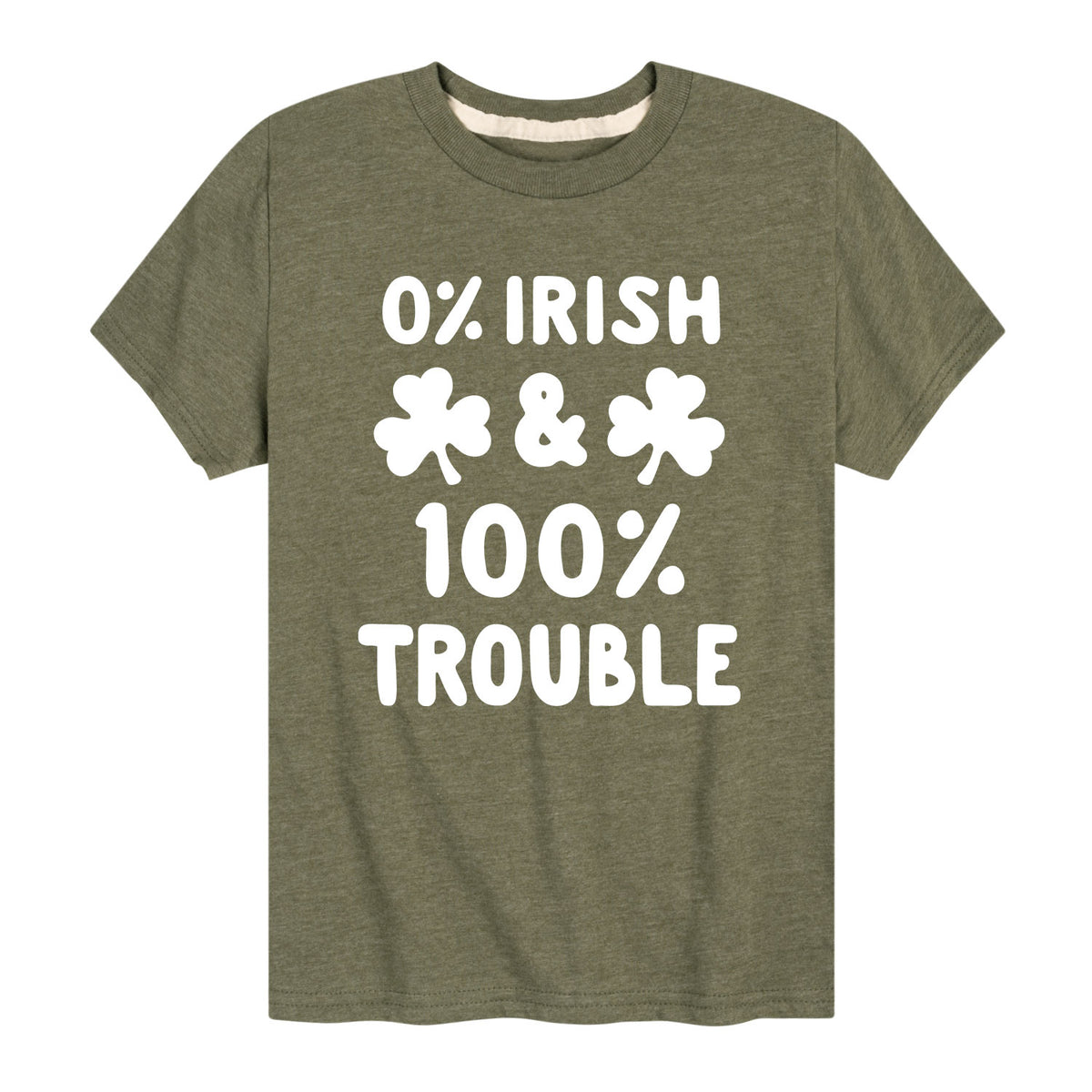 0 Percent Irish 100 Percent Trouble - Youth & Toddler Short Sleeve T-Shirt