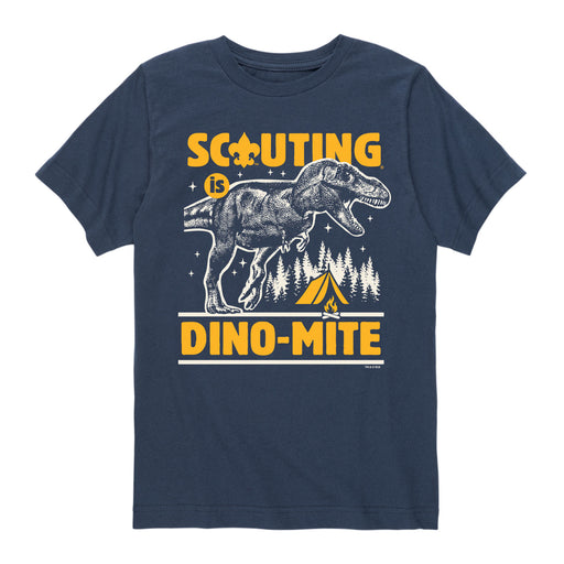 Scouting Is Dino-Mite - Youth Short Sleeve T-Shirt