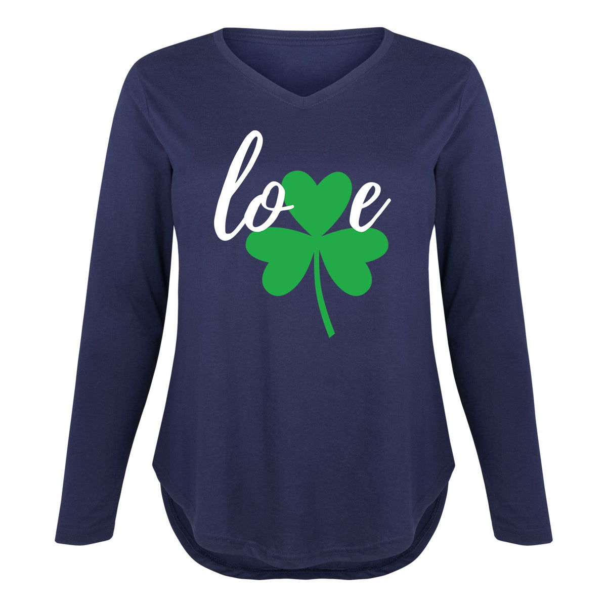 Love Shamrock - Women's Plus Size Long Sleeve T-Shirt