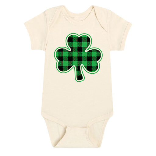 Shamrock Buffalo Plaid - Infant One Piece