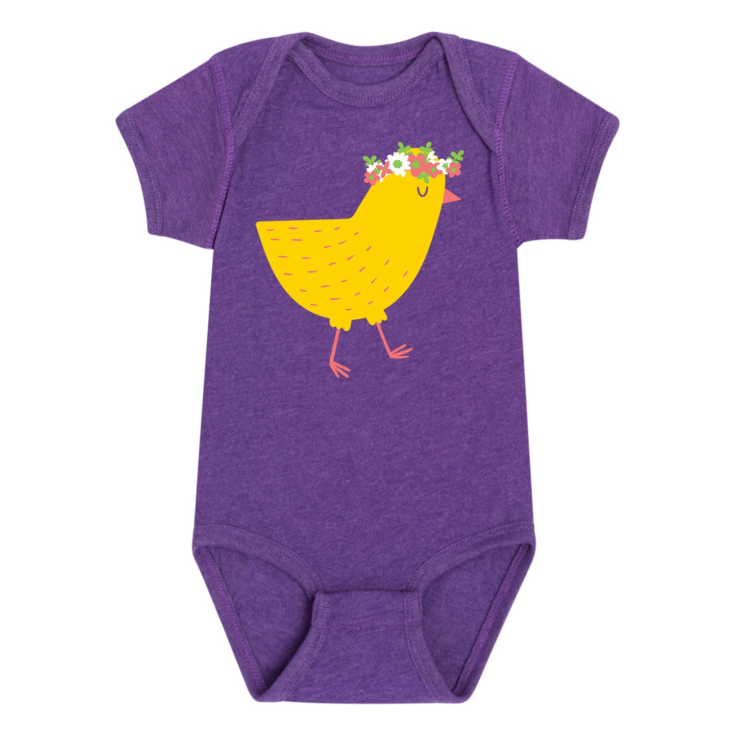 Chick with Flower Crown - Infant One Piece