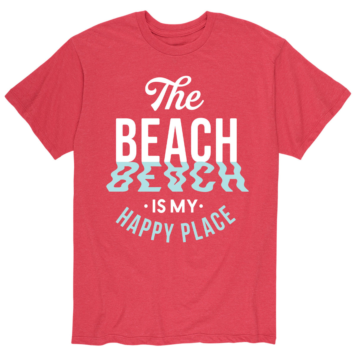 Beach Happy Place - Men's Short Sleeve T-Shirt
