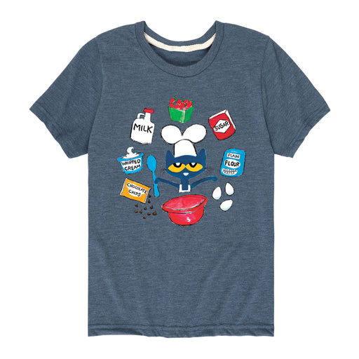 Pete The Cat Baking Ingredients Kids - Toddler Short Sleeve T-Shirt