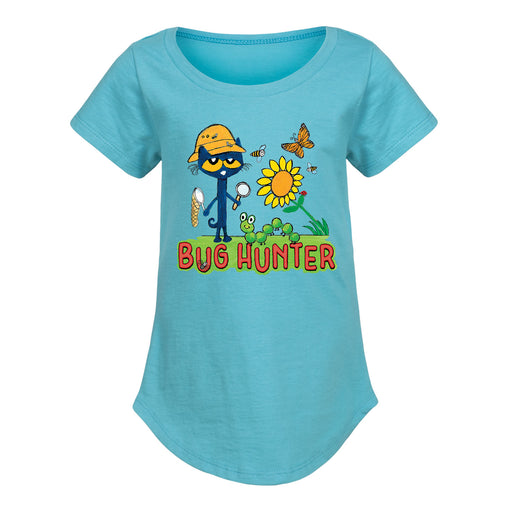 Pete The Cat Bug Hunter Kids - Toddler Girl Short Sleeve T-Shirt