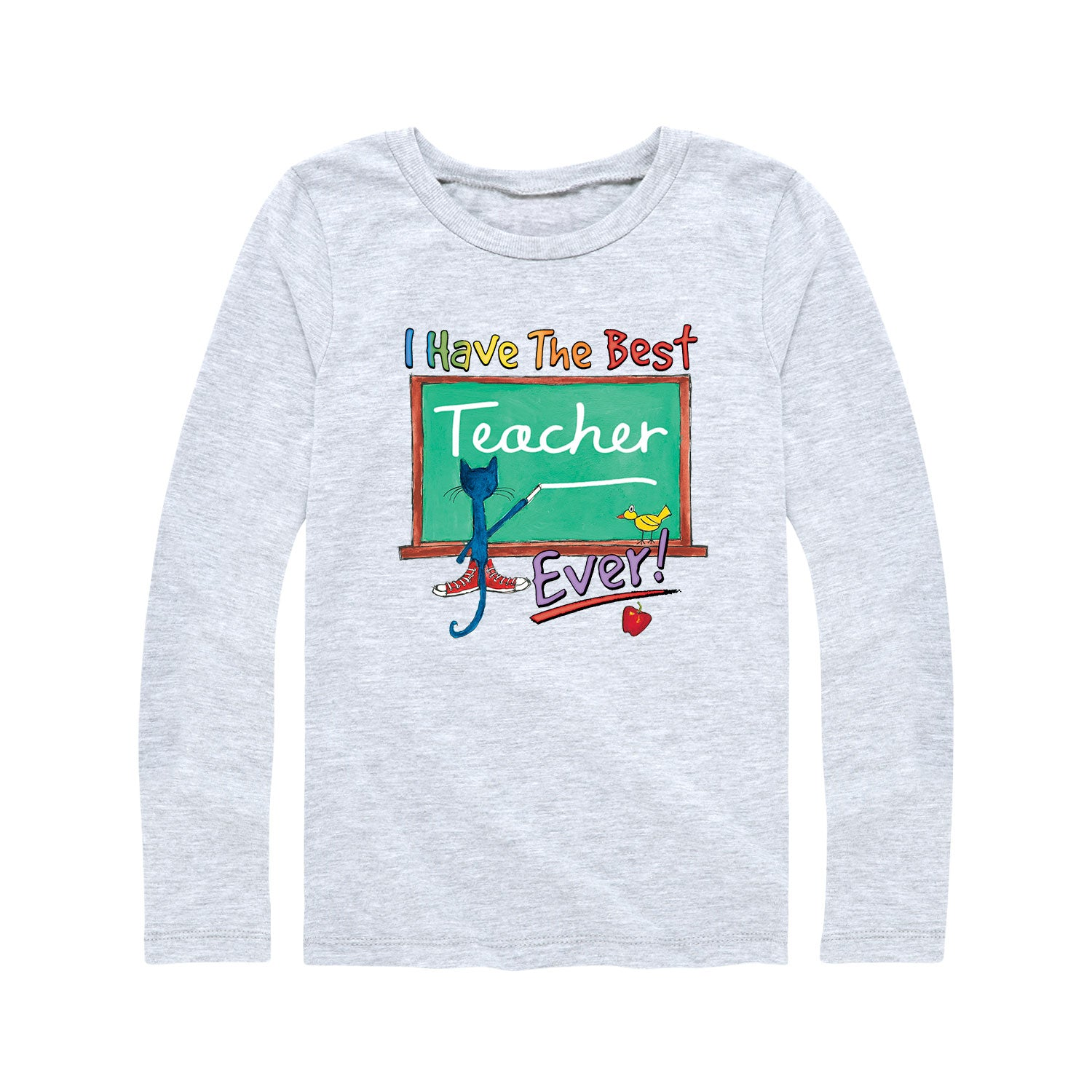 Pete The Cat I Have The Best Teacher Ever - Youth Girl Long Sleeve T-Shirt